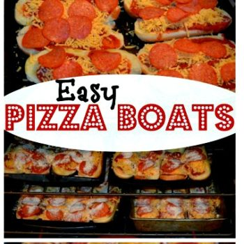 Quick & Easy Pizza Boat Recipe | Large Family Recipes