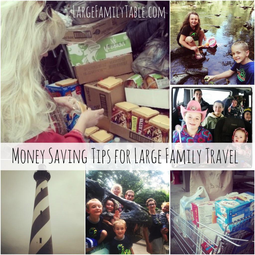 Money Saving Tips for Large Family Travel