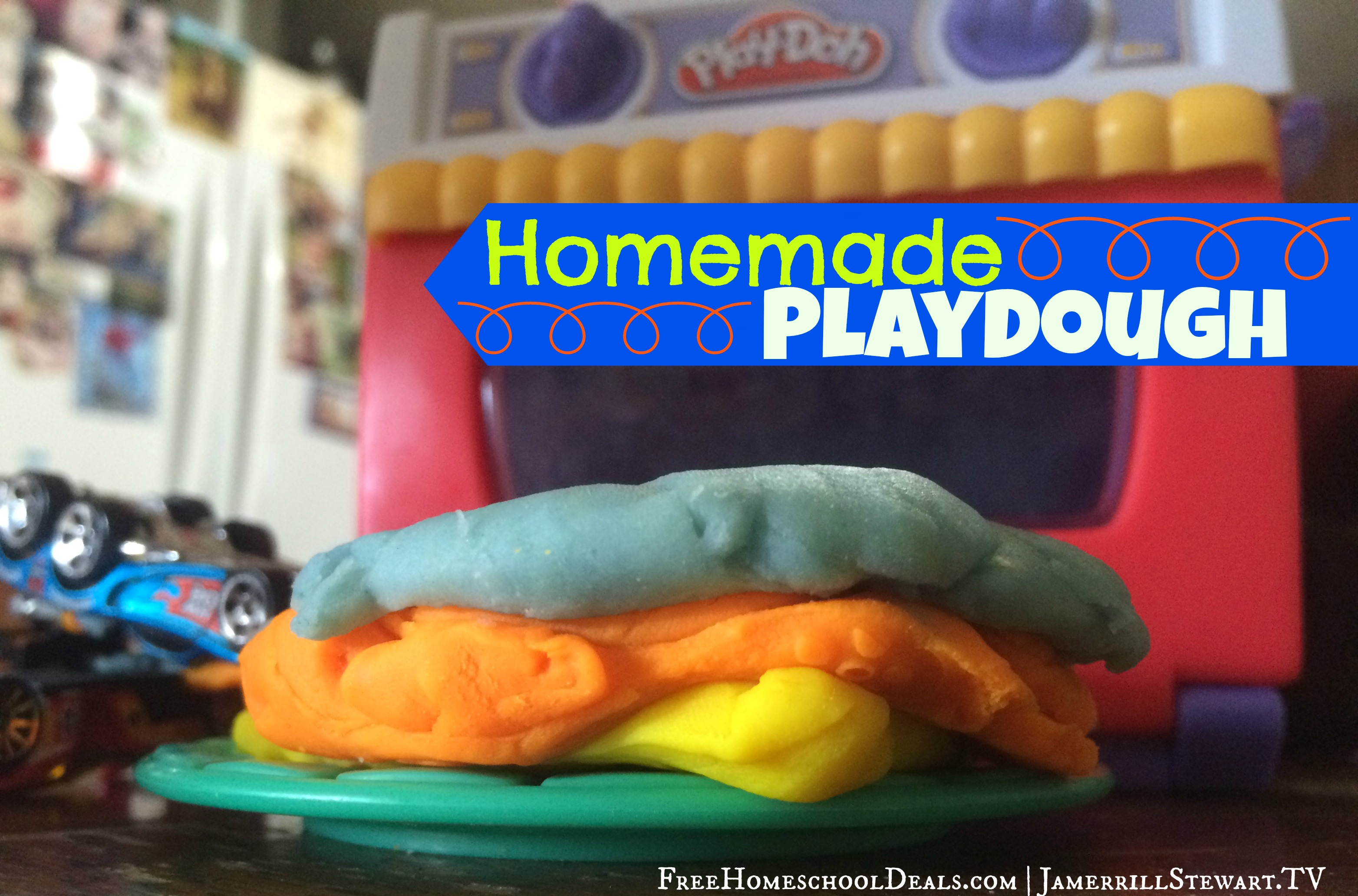 Easy Homemade Play Dough Recipe Tutorial Large Family Table