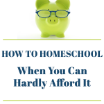 How to Homeschool When You Can Afford It -- Excellent Article!