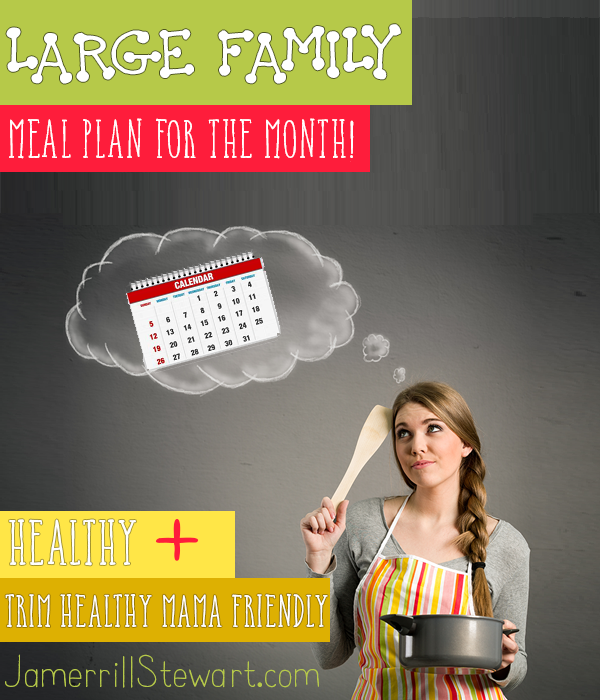 Large Family Meal Planning for the Month