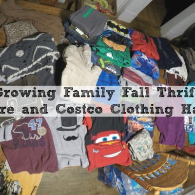 Growing Family Fall Thrift Store and Costco Clothing Haul