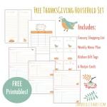 Free Thanksgiving Household Printables