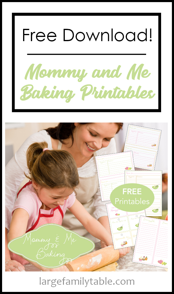 Free Mommy and Me Baking Printable