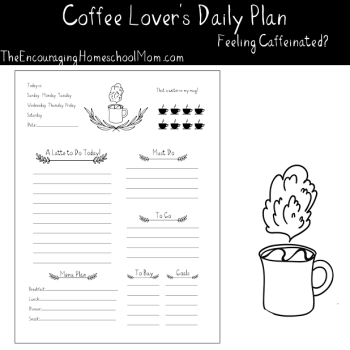 Free Caffeinated Daily Planner Download {for coffee fans!}