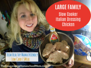Large Family Slow Cooker Italian Dressing Chicken