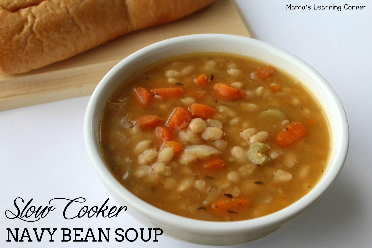 Creamy Navy Bean Soup With Chicken & Veggies Recipe — Dishmaps
