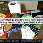 Thrift Store Haul: $3 Bread Machine, Name Brand Kids Clothing, Homeschool Chapter Books, + More!
