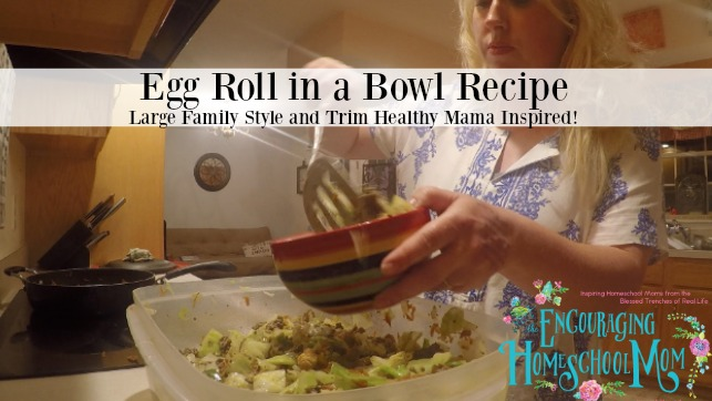 Egg Roll in a Bowl Trim Healthy Mama Recipe