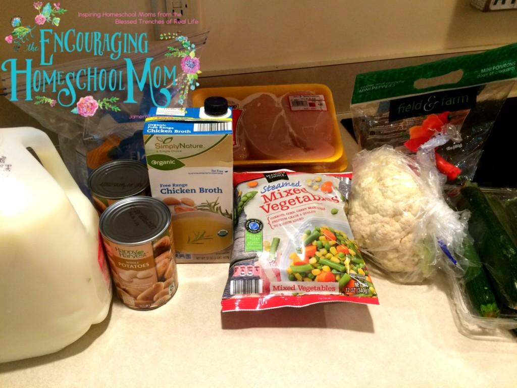 Slow Cooker Chicken Pot Pie Ingredients