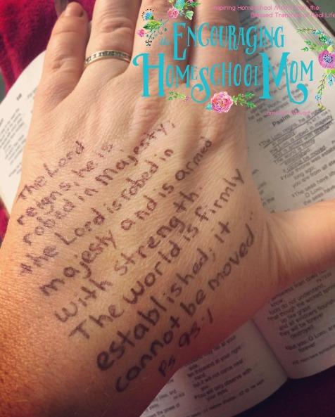 hand verses Psalm 931