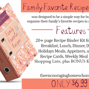 Family Favorite Recipes Binder Kit – Now Available!