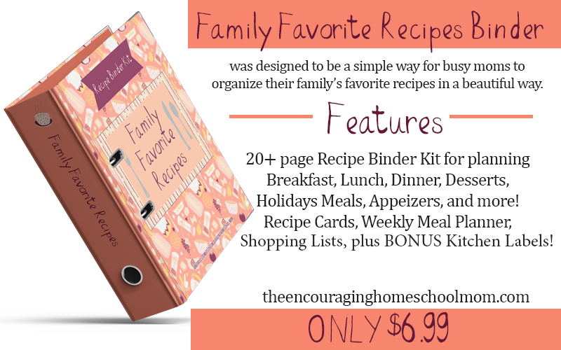 Family Favorites Recipe Binder Kit