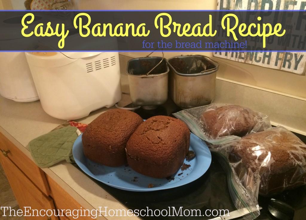 Easy Banana Bread Recipe for the Bread Machine