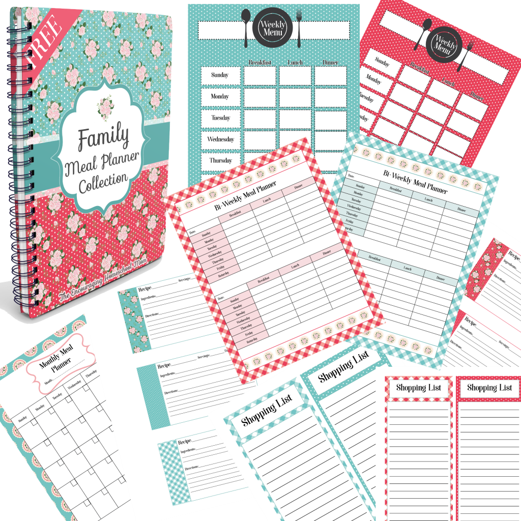 Family Meal Planner Collection Collage
