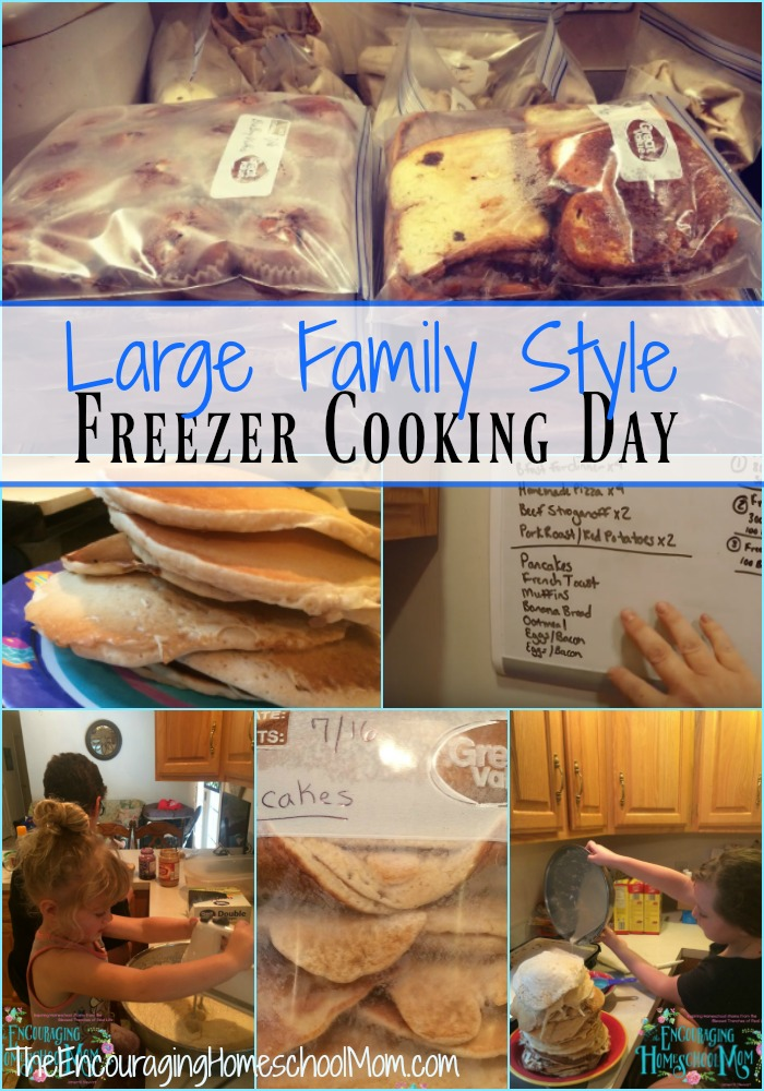 Large Family Style Freezer Cooking Day