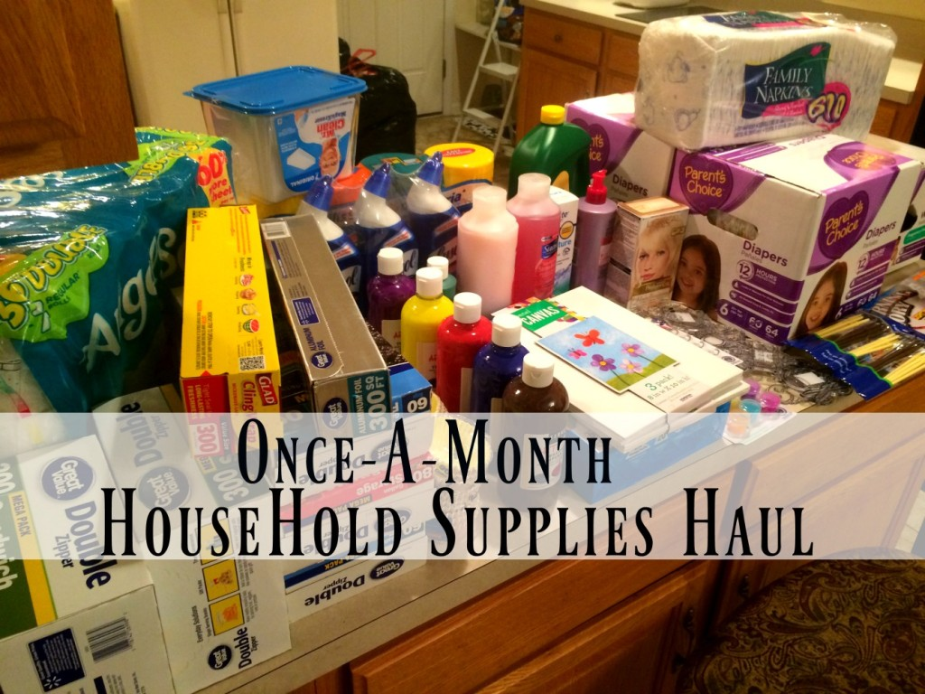 Once-A-Month Household Supplies Shopping Haul