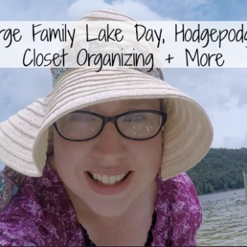 DITL: Large Family Lake Day, Hodgepodge Meals, Closet Organizing + More