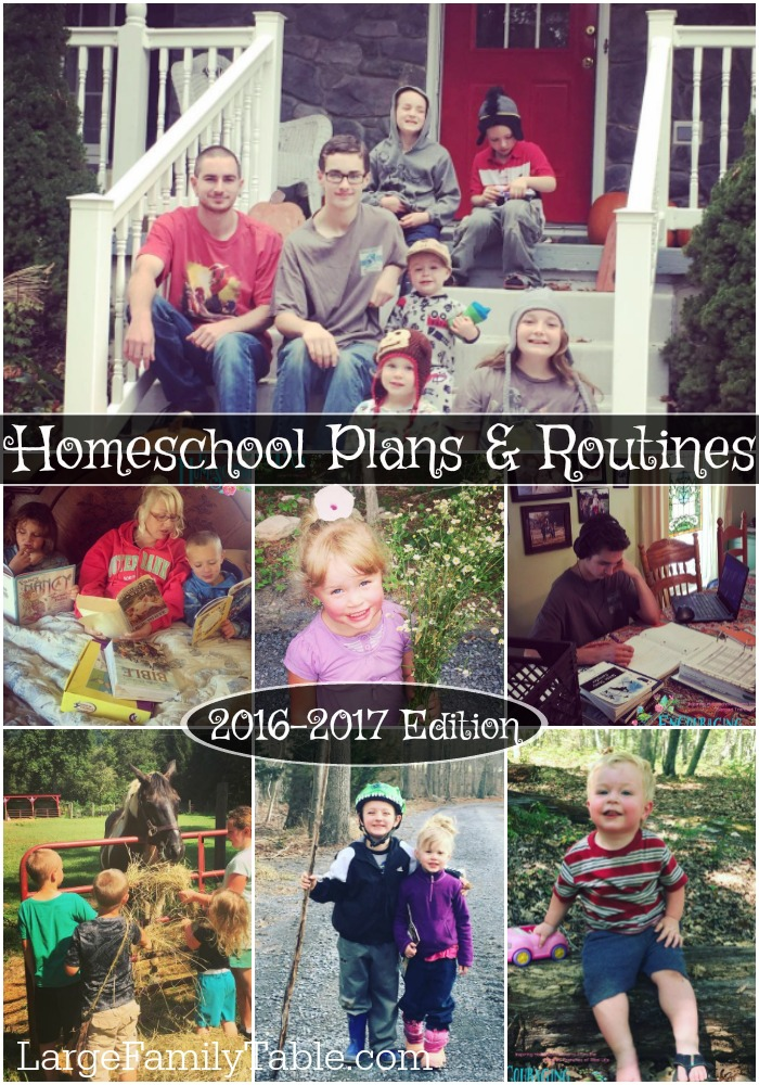 Homeschool Plans and Routines 2016 2017