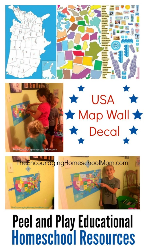 Usa Map Wall Play Set
