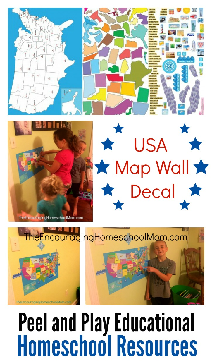 The Coolest Homeschool Walls: US Map in Action!