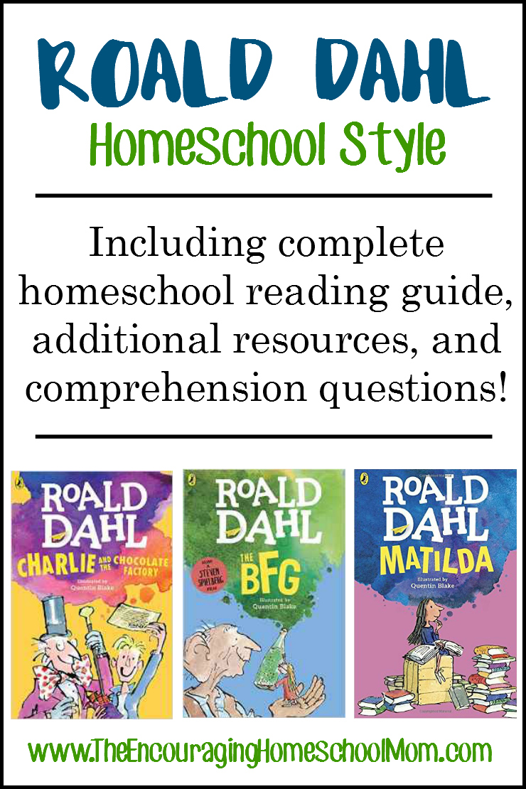 Book Cover Printable Questions : Roald dahl homeschool style including complete