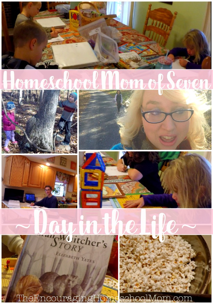 Day in the Life Homeschool Mom of Seven
