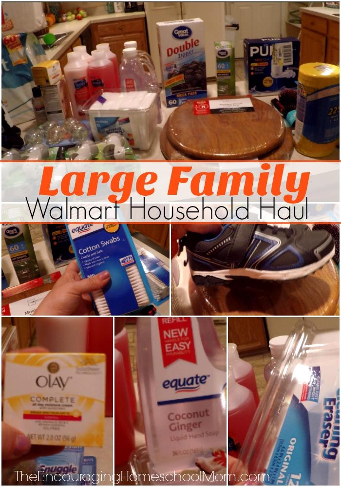 Large Family Walmart Household Haul