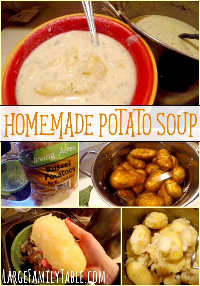 Homemade Potato Soup Large Family Recipes