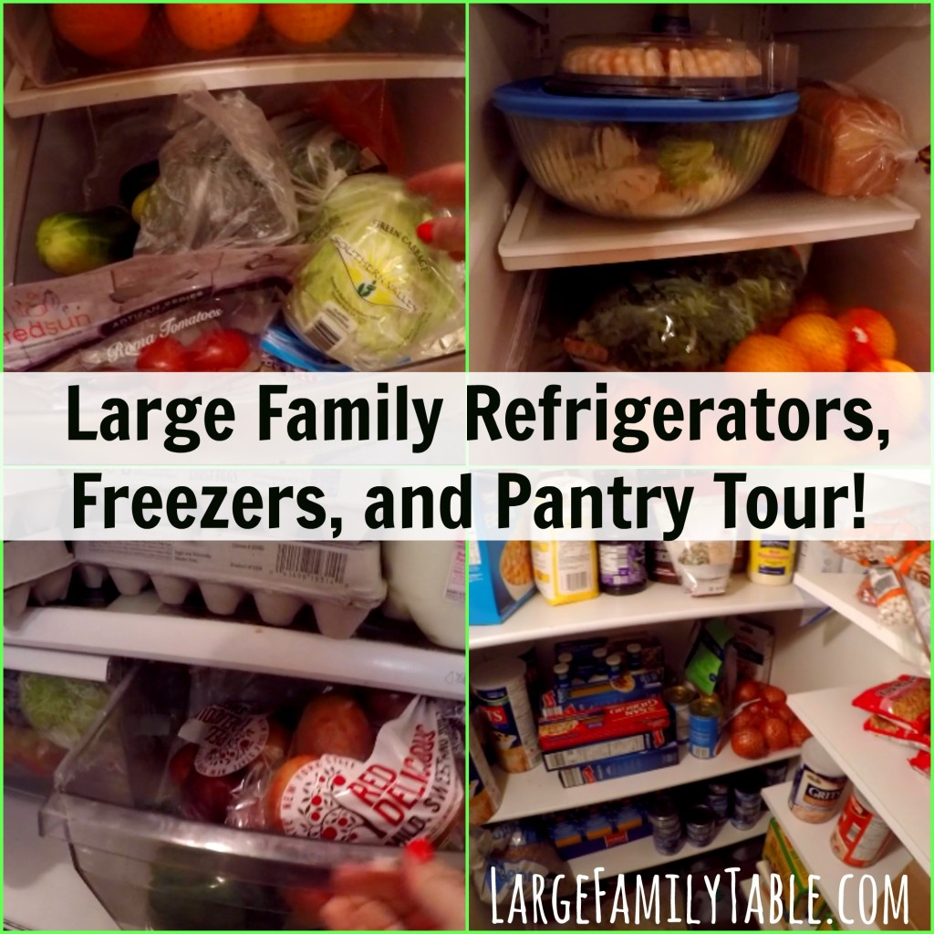 Large Family Refrigerators, Freezers, and Pantry Tour!