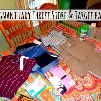 Pregnant Lady Thrift Store & Target Shopping Haul