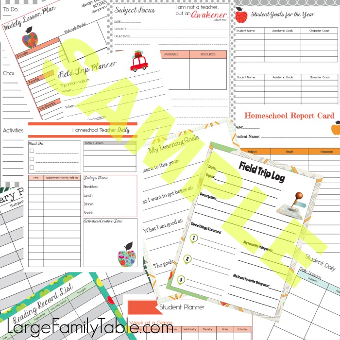 Quick and Easy Homeschool Planner Sample-2