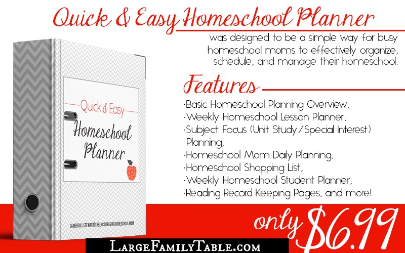 Quick and Easy Homeschool Planner