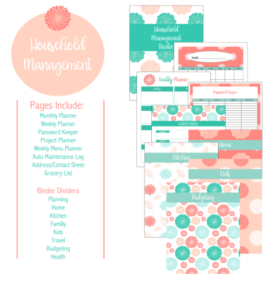 The Beautiful Household Management Binder FREE ($12.99 Value