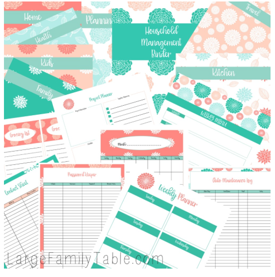graphic about Free Printables for Home identify The Appealing Family members Handle Binder No cost ($12.99 Worthy of!)
