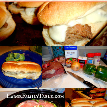 Slow Cooker Philly Cheese Steak Recipe | Large Family Style!