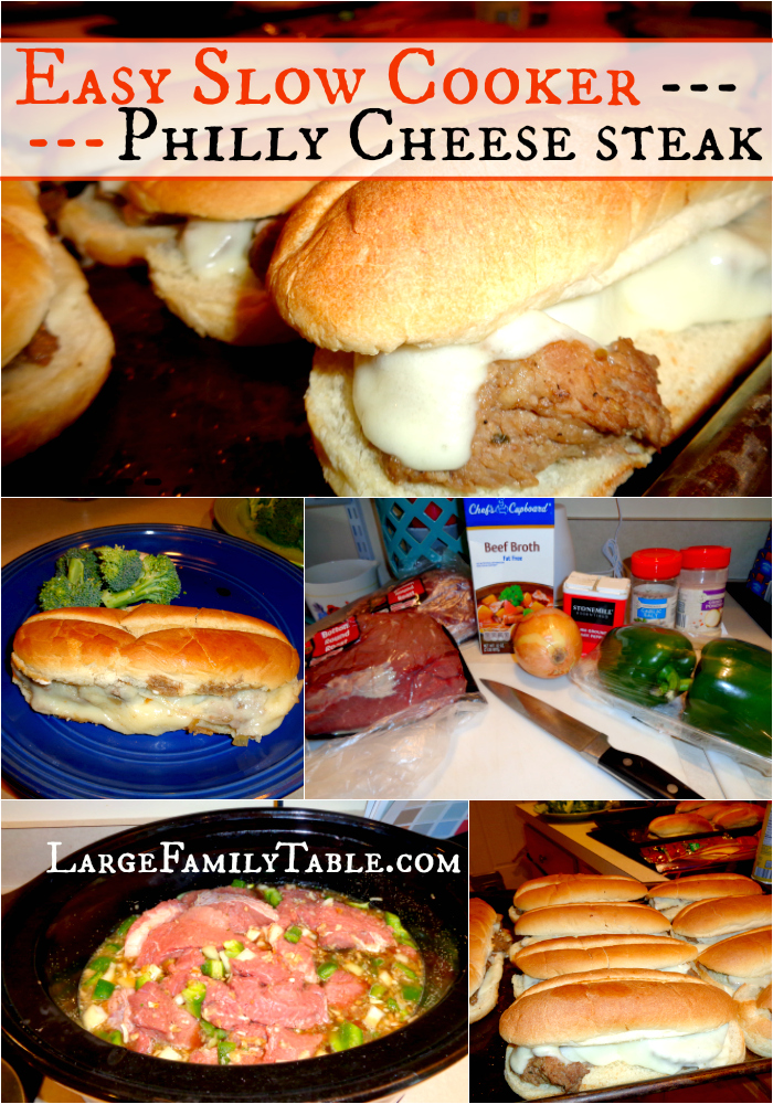 Slow Cooker Philly Cheese Steak Recipe