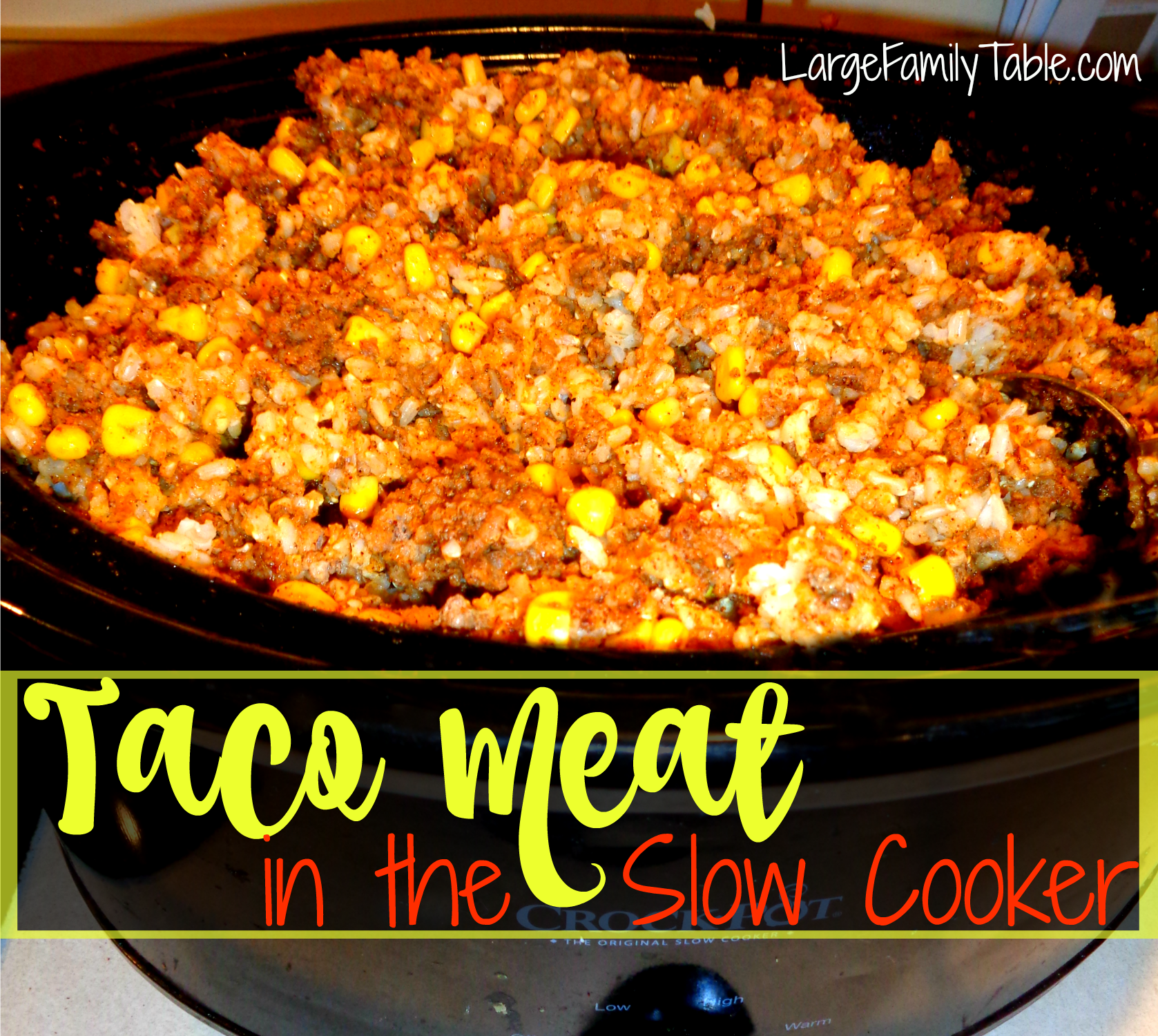 Taco Meat in the Slow Cooker Recipe