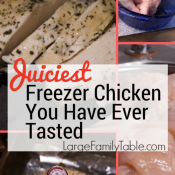 Large Family Freezer Cooking: Freezer Chicken in Bulk