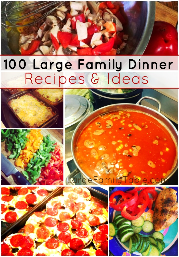 cheap meals for large families
