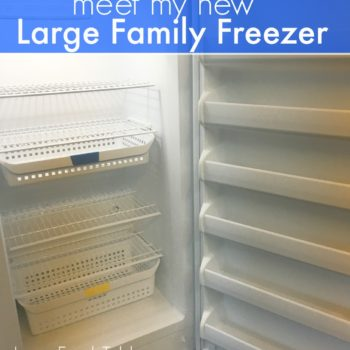 Meet My New Large Family Freezer