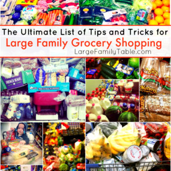 The Ultimate List of Tips and Tricks for Large Family Grocery Shopping