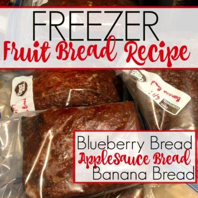 freezer bread recipe