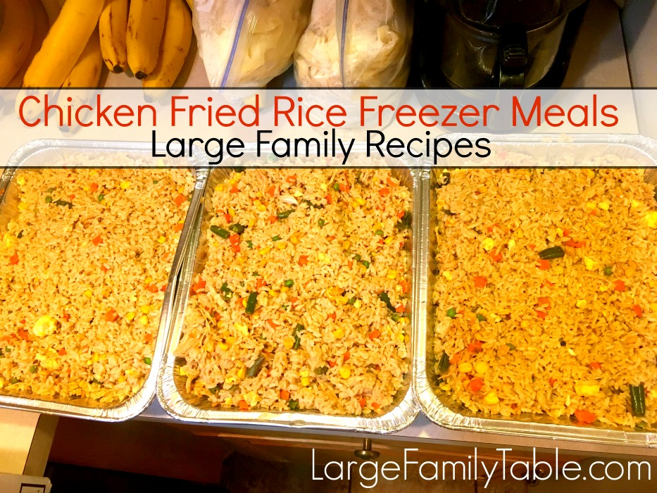 Chicken fried rice freezer meal large family recipes jamerrills chicken fried rice freezer meal forumfinder