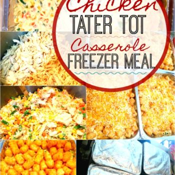 Chicken Tater Tot Casserole Freezer Meal | Large Family Recipes