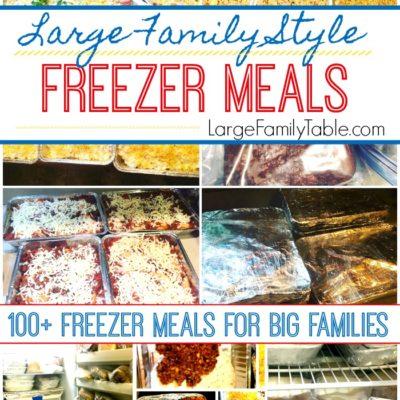 Freezer meals for big families
