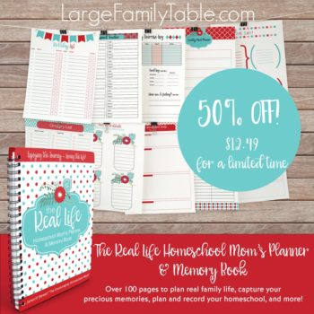 The Real Life Homeschool Mom's Planner and Memory Book