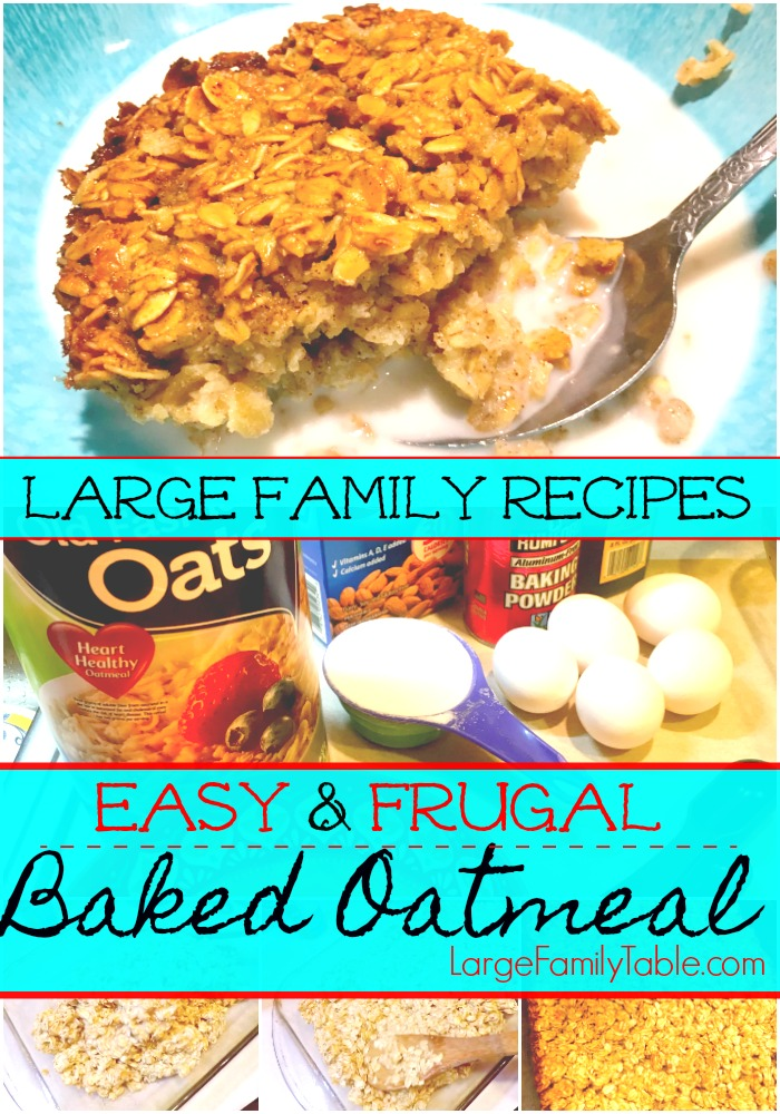 Today Miss Amelia And I Are Making A 9 13 Pan Of Easy Baked Oatmeal For The Frugal Family Food Collaboration On This Recipe Can Be