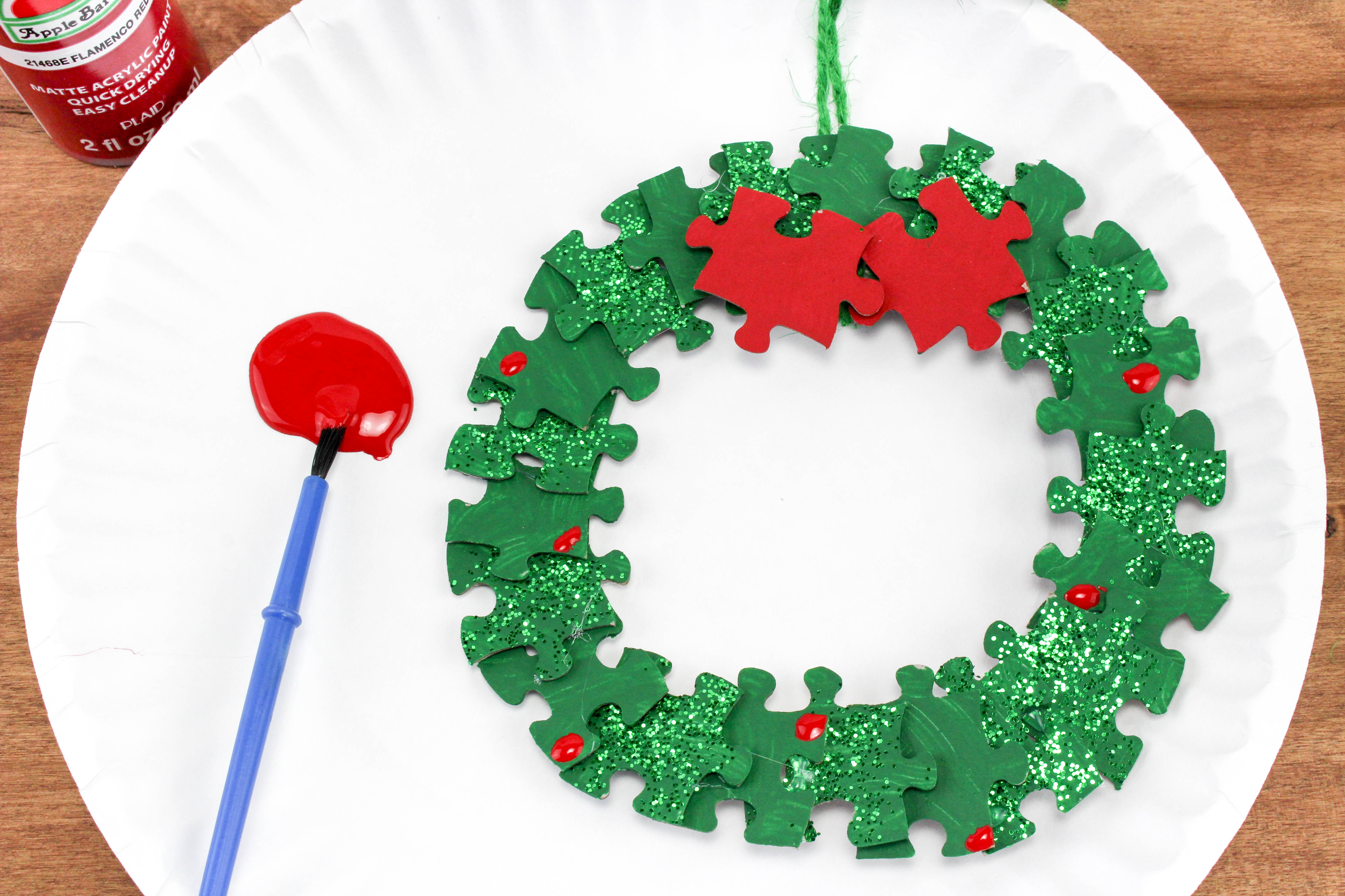 Puzzle Christmas Wreath Craft Project for Kids - Jamerrill\'s Large ...