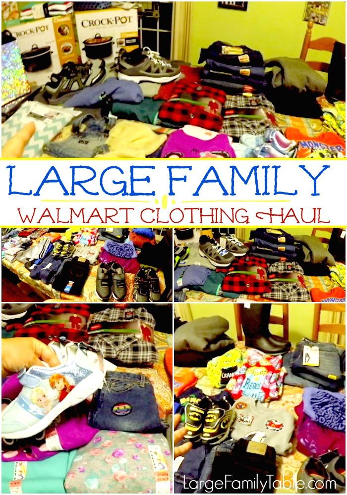 a32756349b3f7 Large Family Walmart Clothing Haul